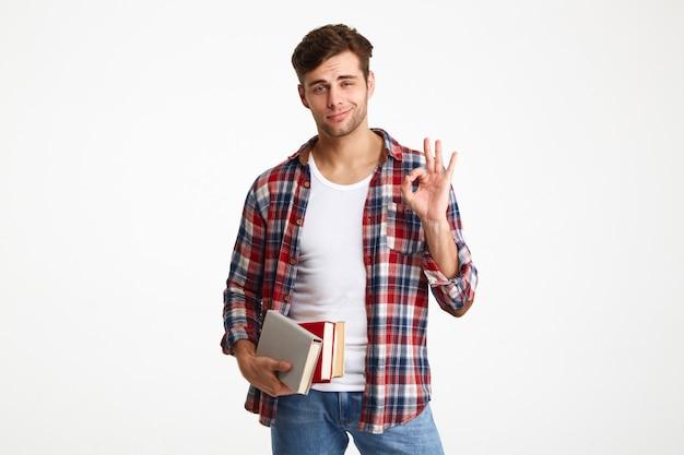 Portrait D'un Jeune étudiant Masculin Occasionnel Photo gratuit