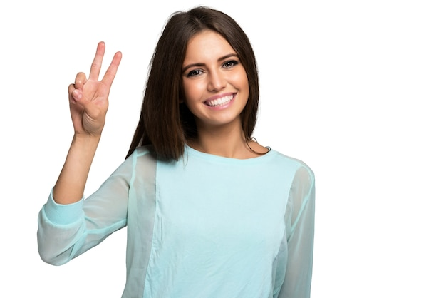 Portrait d'une jeune femme très heureuse Photo Premium