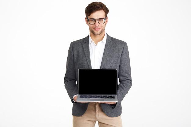 Portrait D'un Jeune Homme D'affaires Souriant à Lunettes Photo gratuit