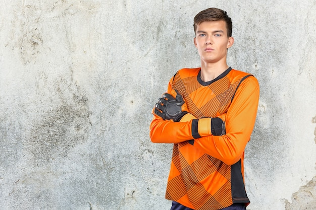 Portrait de joueur de football professionnel Photo Premium