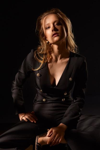 Portrait De Modèle De Mode. Photo Premium