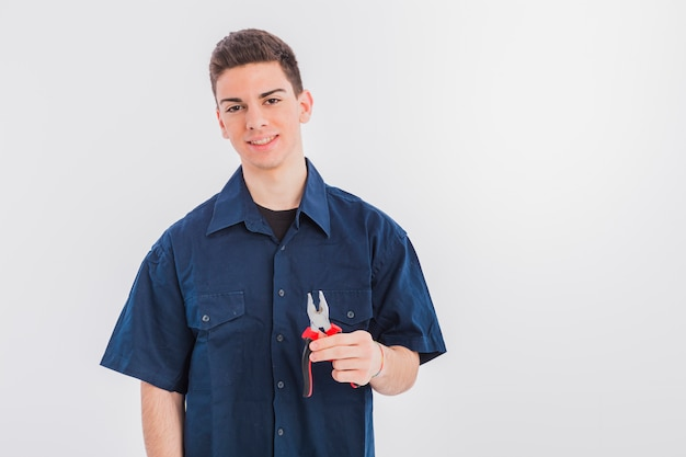 Portrait de plombier Photo gratuit
