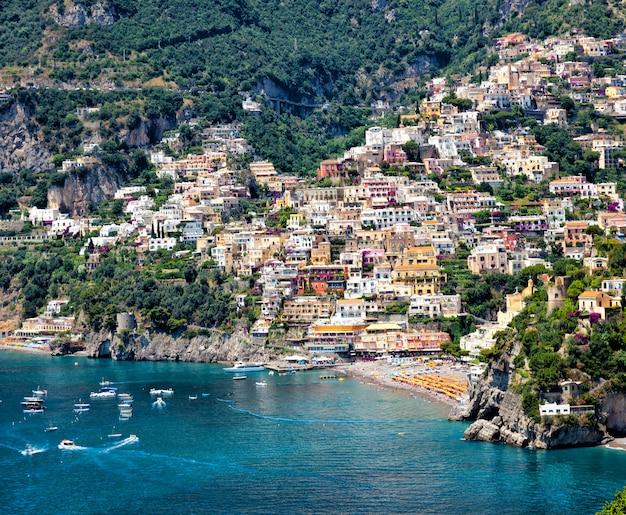 Positano, côte amalfitaine, italie Photo Premium