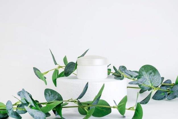 Pot Cosmétique Blanc Contenant Vide Photo Premium