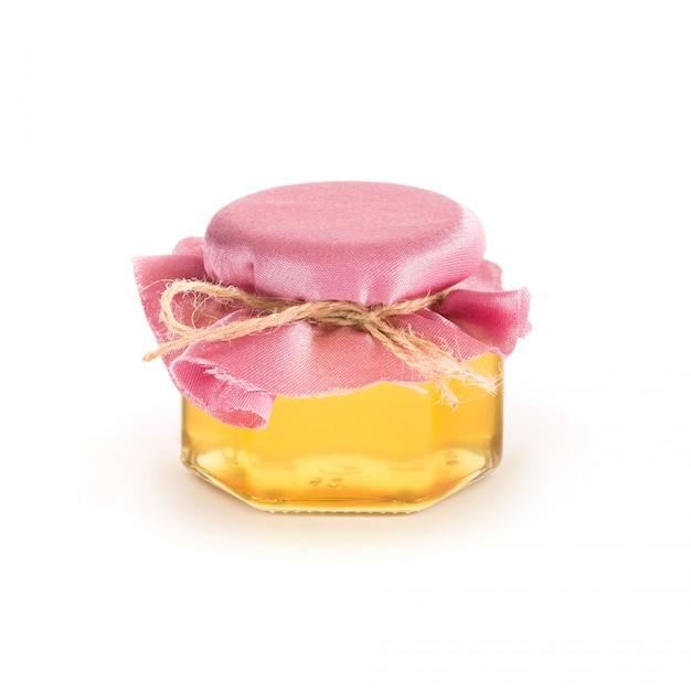Pot de miel isolé Photo Premium