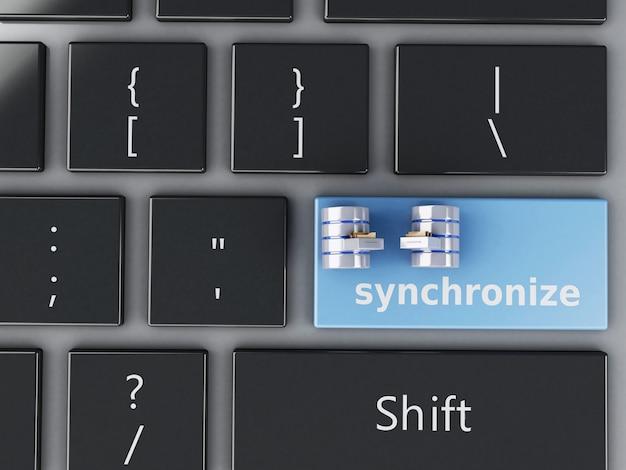 Poubelle 3d sur le clavier de l'ordinateur. Photo Premium