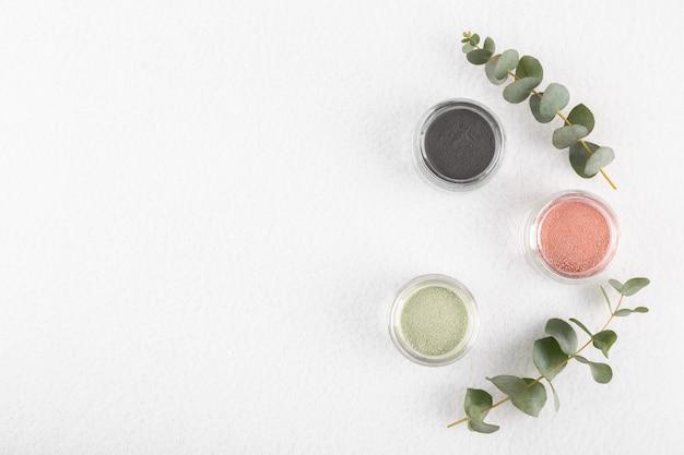 Poudre Cosmétique D'argile Pour La Peau Et Les Cheveux Photo Premium