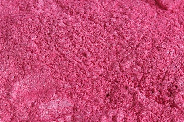 Poudre cosmétique pigmentée au mica rose Photo Premium