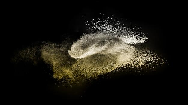 La poudre d'or se répand pour l'artiste maquilleur Photo Premium