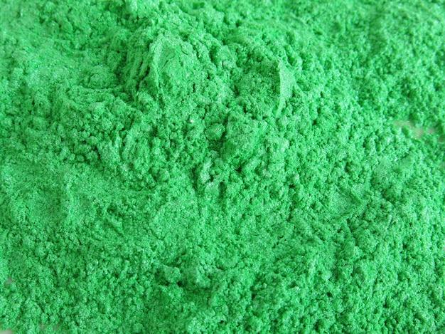 Poudre de pigment de mica vert pour les cosmétiques Photo Premium