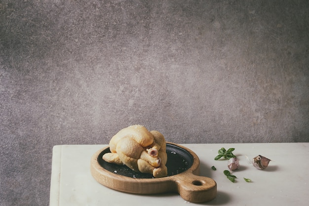 Poulet cru non cuit Photo Premium