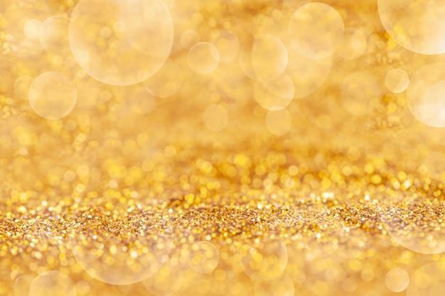 Poussière D'or élégant Avec Bokeh Fond Abstrait Ou De La Texture Photo Premium