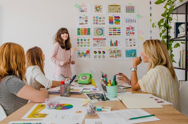 Présentation de leader féminin Photo gratuit