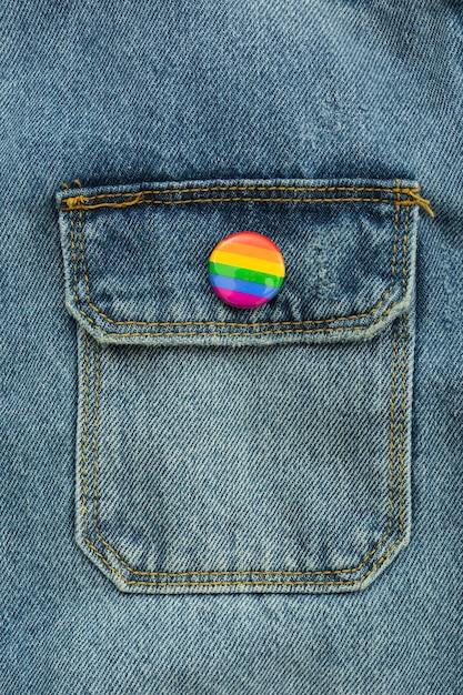 Pride Lgbt Society Day Jeans Close-up De Bouton Photo gratuit