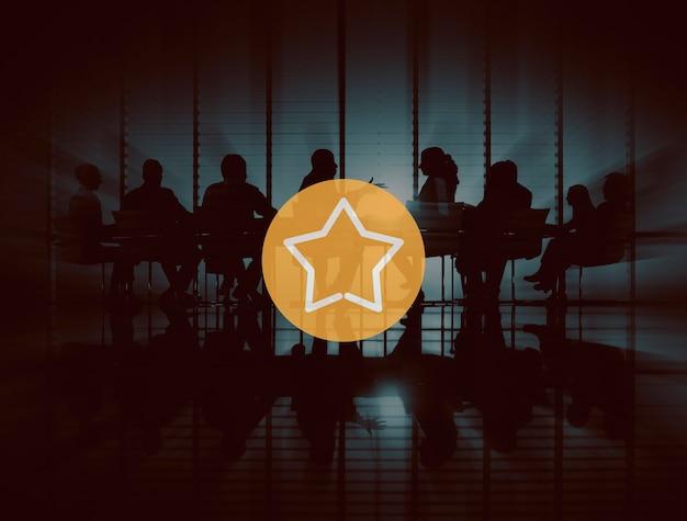 Prix de La Meilleure Réussite Star Excellent Excellent Concept Photo gratuit