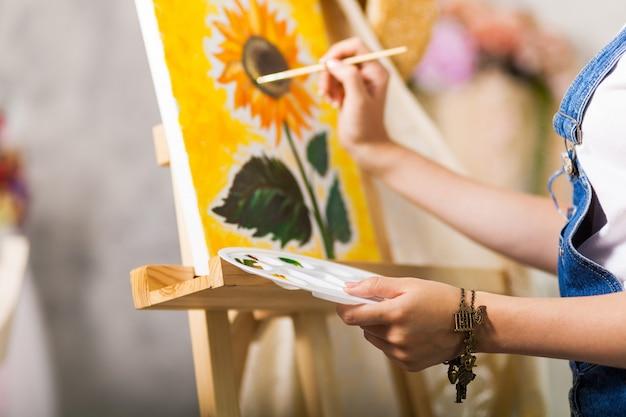 Le processus de création d'une image. fermer Photo Premium