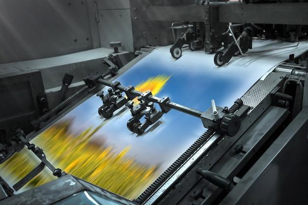 Processus Dans Une Imprimerie Moderne Photo Premium