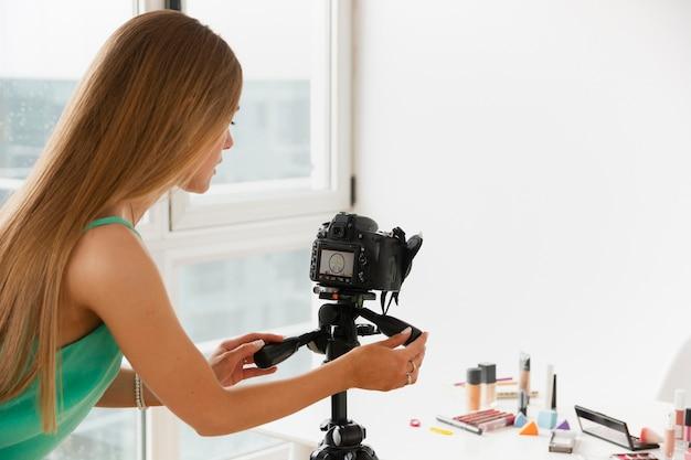 Produits De Maquillage Pour Filmer à Angle élevé Photo gratuit