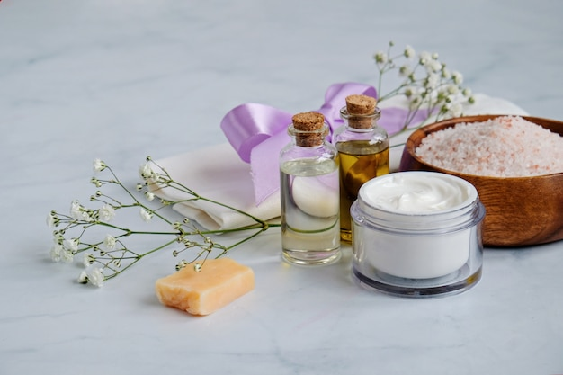 Produits de soins de la peau naturels spa Photo Premium