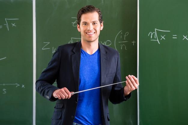 Prof, pointeur, devant, classe école Photo Premium