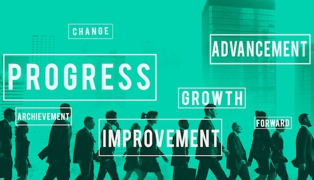 Progrès développement innovation innovation concept Photo gratuit