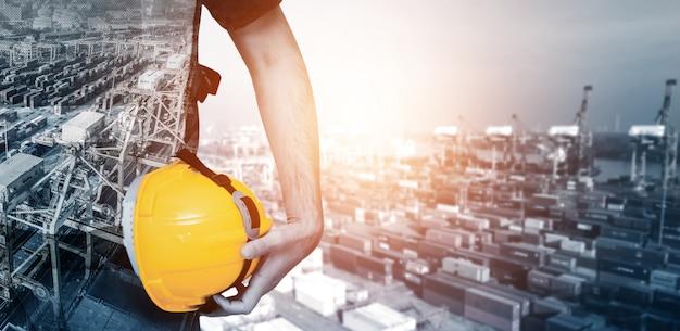 Projet d'ingénierie de construction future. Photo Premium