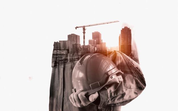 Projet d'ingénierie de la construction future. Photo Premium
