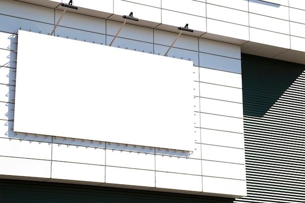 Publicité Extérieure Maquette Vierge Avec Espace Copie Sur Le Mur Du Bâtiment Du Centre Commercial Photo Premium