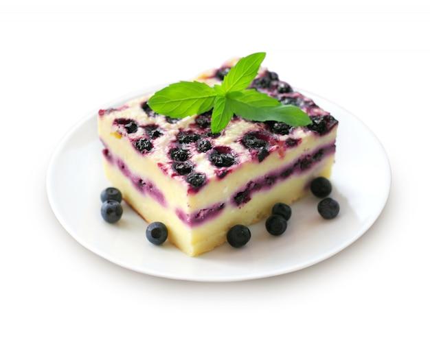 Pudding Au Fromage Cottage Et Aux Myrtilles Photo Premium