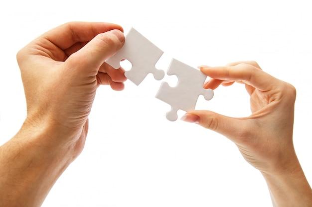 Puzzle Blanc Photo gratuit