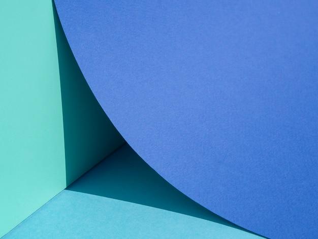 Quart de gros plan gros cercle de papier bleu Photo gratuit