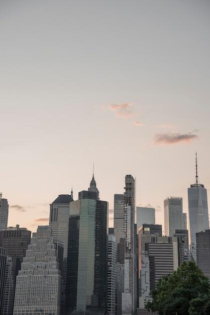 Quartier financier de new york city skyline Photo gratuit