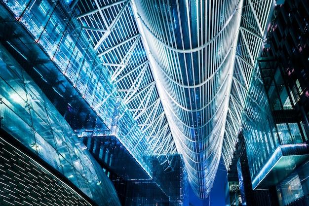 Quartier financier de suzhou la nuit Photo gratuit