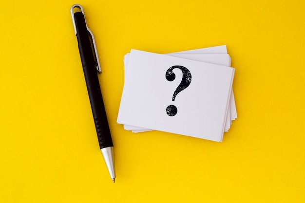 Questions et réponses ou conception de q & a Photo Premium