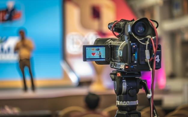 Radiodiffuseur vidéo numérique Photo Premium