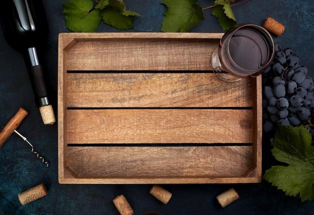 Raisins et vin Photo Premium
