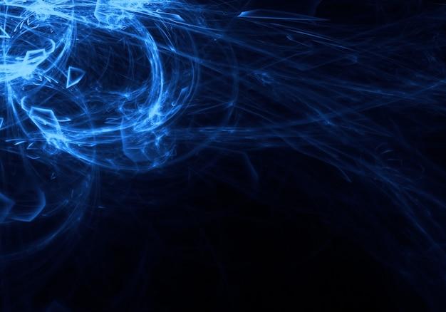 Rayonnement bleu flottant dans l'espace Photo gratuit