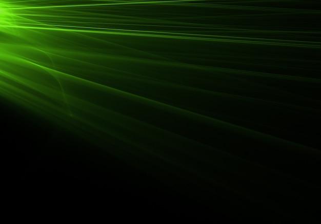 Les rayons lumineux verts venant de la gauche Photo gratuit