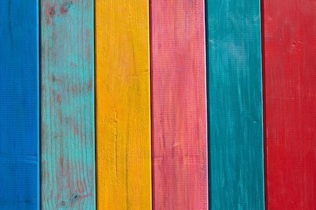 Rayures mexicaines colorées peint texture bois Photo Premium