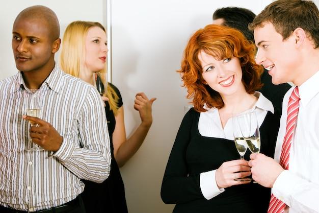 Réception avec champagne Photo Premium