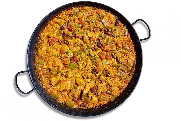 Recette de riz à la paella d'espagne Photo Premium