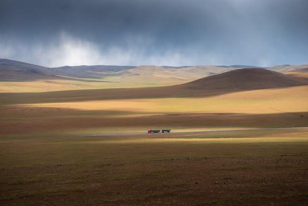 Le Réchauffement Climatique Rend Le Paysage Aride Sur La Terre Photo Premium