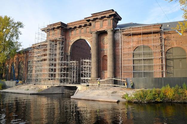 Reconstruction de l'arc de l'île de new holland Photo Premium
