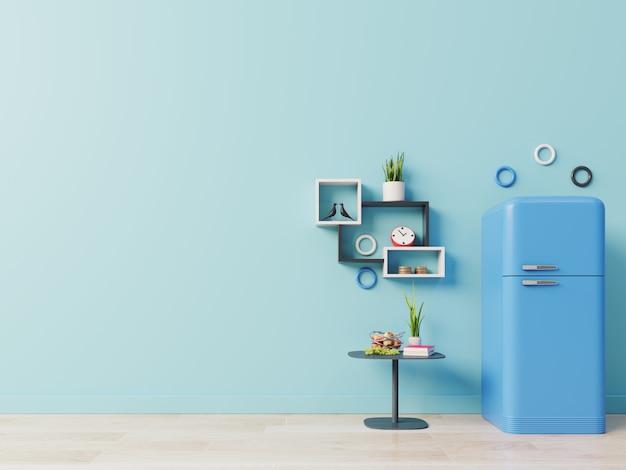 Réfrigérateur sur le sol de la cuisine Photo Premium