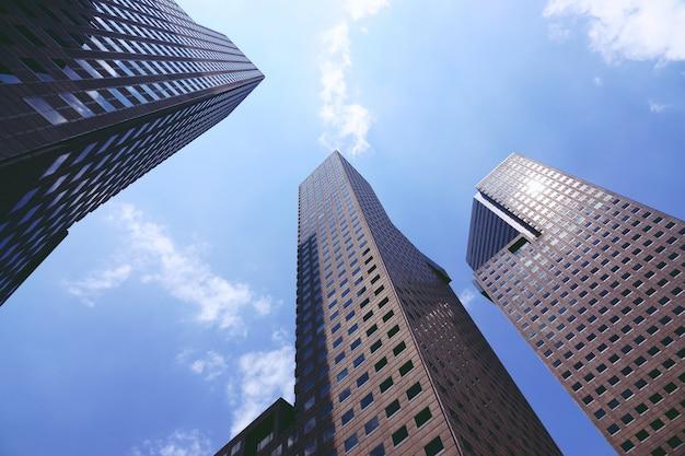 Regarder les immeubles commerciaux à singapour Photo Premium