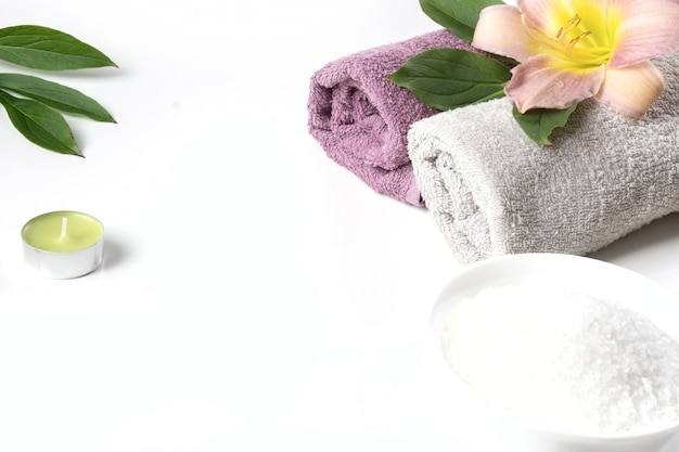 Réglage du spa sur blanc, Photo Premium