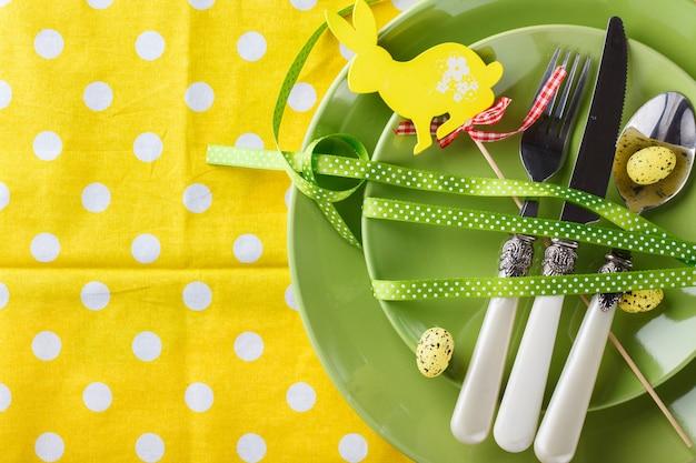 Réglage De La Table De Pâques Photo Premium