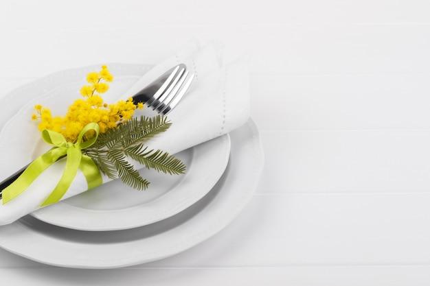 Réglage de la table de printemps Photo Premium