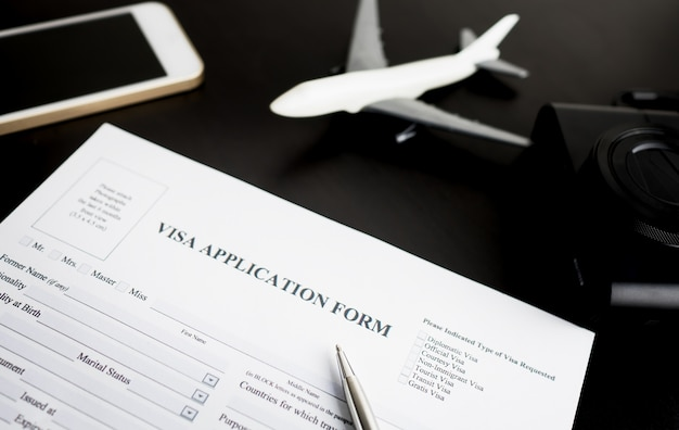 Remplir le formulaire de demande de visa pour les vacances Photo Premium