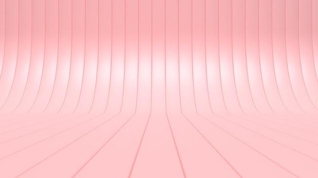 Rendu 3d abstrait blanc courbe-studio minimal abstrait Photo Premium